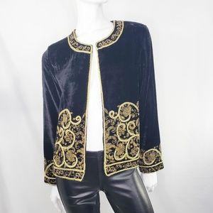 Vintage Velvet Blazer S